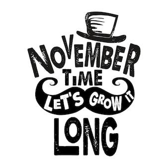 Movember lettering design