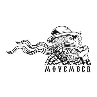 Movember man illustration