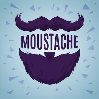 Movember month flat design background