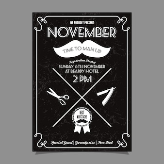 Movember moustache competition poster