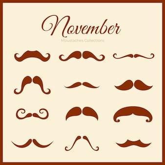 Movember 수염 컬렉션