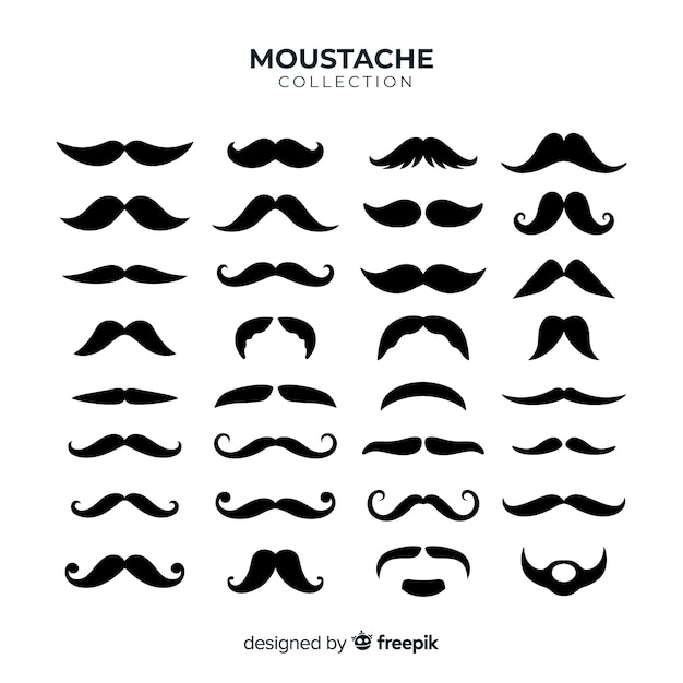 moustache vectors, photos and psd files free downloadmovember mustache pack collection in flat design