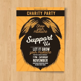 Movember mustache poster template