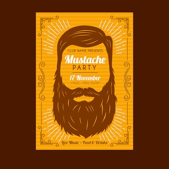 Movember mustache poster template