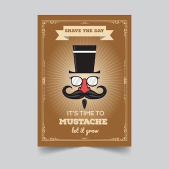 Movember 수염 포스터 템플릿