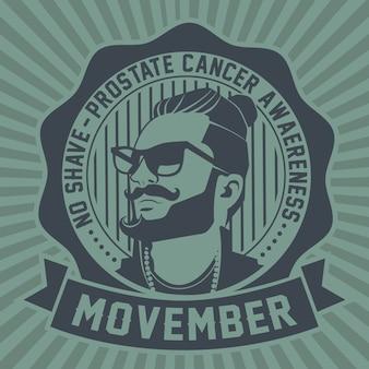 Movember no shave emblem
