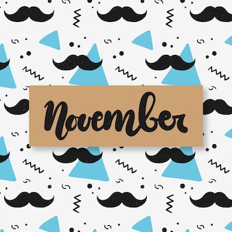 Movember pattern background
