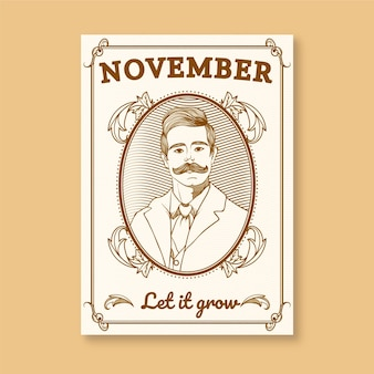Movember poster with an ornamental frame
