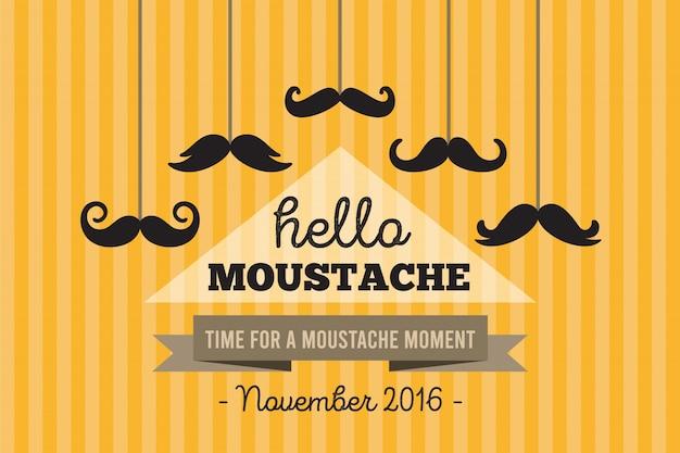 Movember полосатый фон с усиками