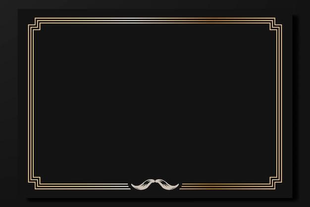 Movember vintage frame design