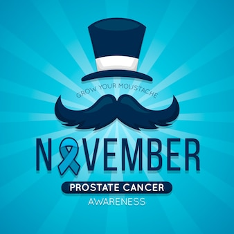 Movember wallpaper with blue ribbon