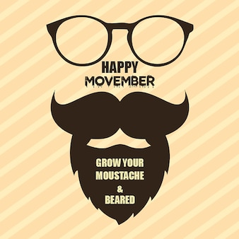 Movemberのベクトルの背景