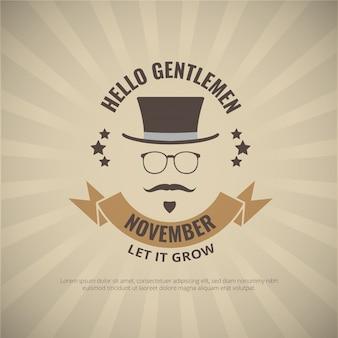 エレガントな紳士movemberポスター