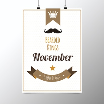 Плакат для movember