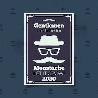 Movember флаер в стиле винтаж