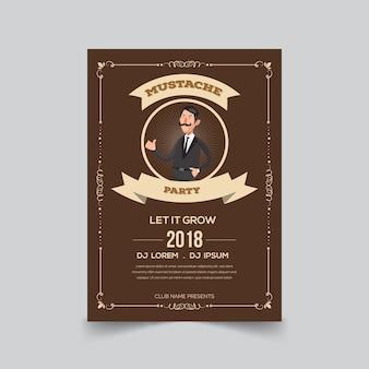 Movember口ひげポスターテンプレート