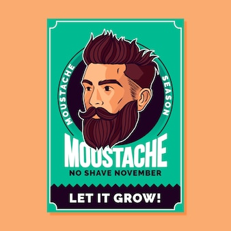 Логотип movember