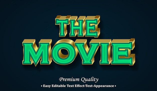 The movie 3d font style effect