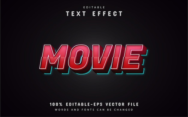 Movie 3d text effects