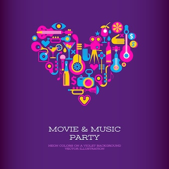 映画と音楽パーティー