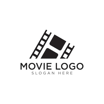 Movie black logo design premium