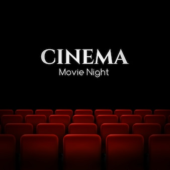 Movie cinema premiere poster  with red seats.  background.