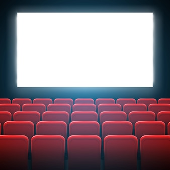 Movie cinema screen frame and theater interior.