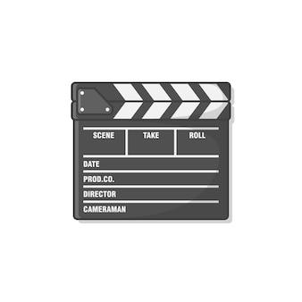 영화 클 래퍼 보드 아이콘 그림 절연