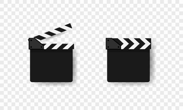 映画クラッパー アイコン。映画業界。