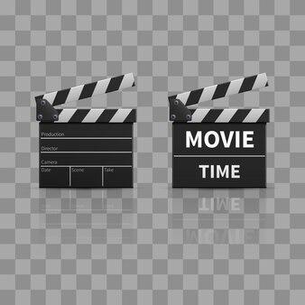 Фильм clapperboard или фильм clapper изолированы