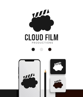 Movie cloud film productions logo template pack