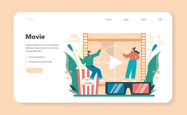 Movie director web banner or landing page