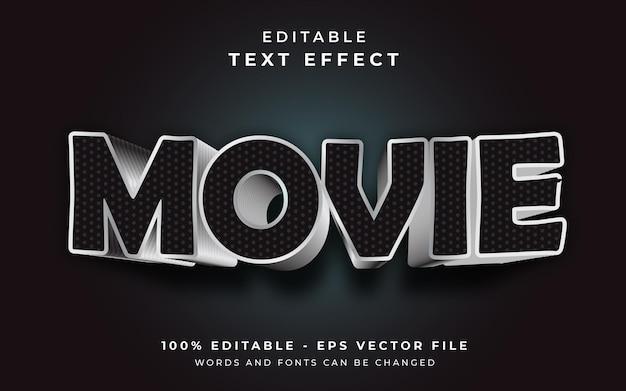Movie editable text effect