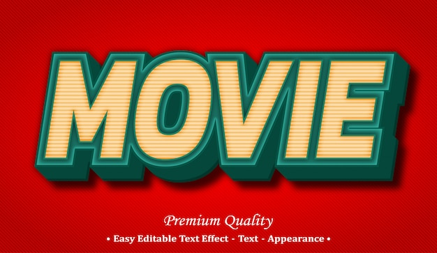 Movie  editable text style effect