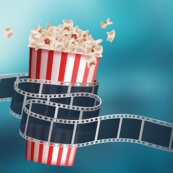 Кино фильм дизайн фона Бесплатные векторы