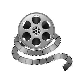 Movie film reel illustration