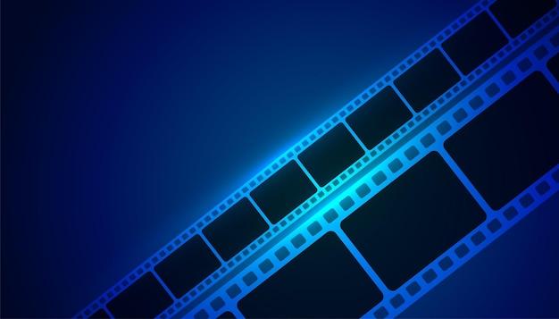 Striscia di pellicola cinematografica sfondo blu
