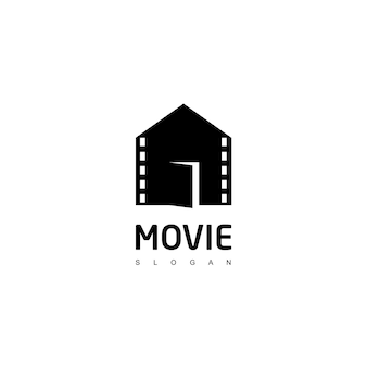 Movie house logo design template