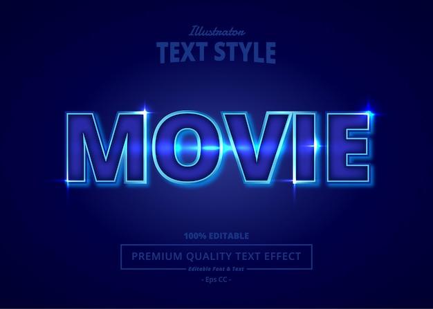 Movie illustrator text effect