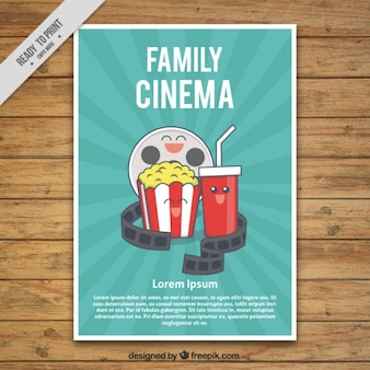 Movie poster with friendly characters