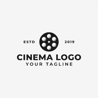 Movie reel, cinema, film production logo template