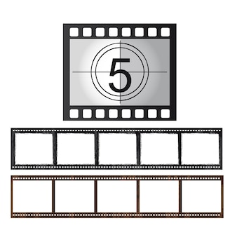 Movie tape isolated over white background vector