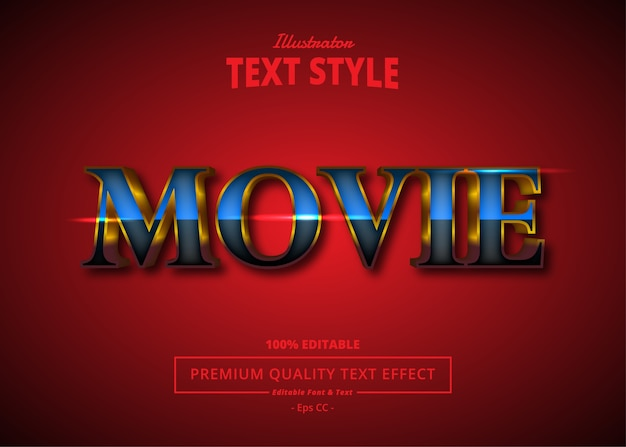 Movie  text effect
