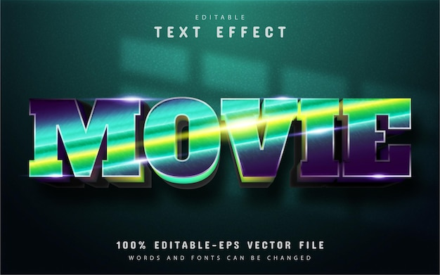 Movie text, gradient text effect editable