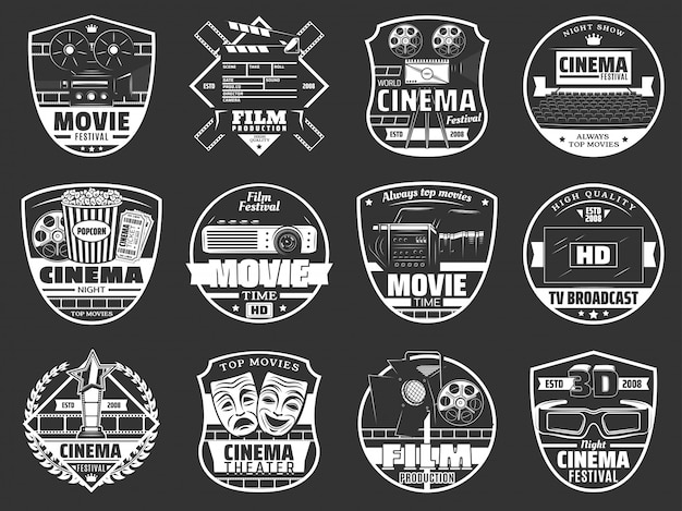 Movie theater, cinema festival and tv broadcast
