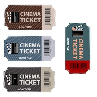 映画のチケット。映画のチケットが分離されました。
