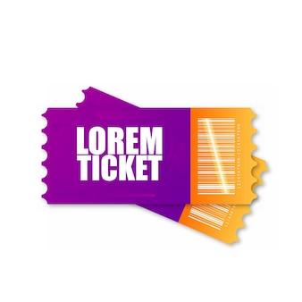 映画のチケット、飛行機、電車など。