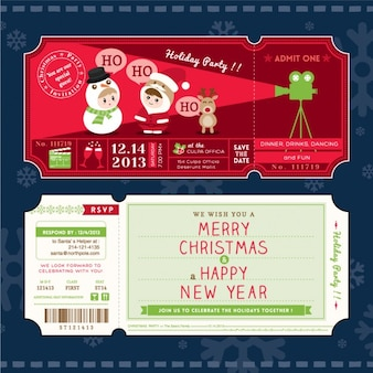 Movie tickets, christmas