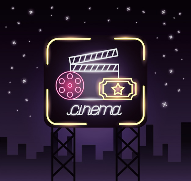 Movie time neon sign