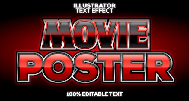 Movie title poster black and red text style